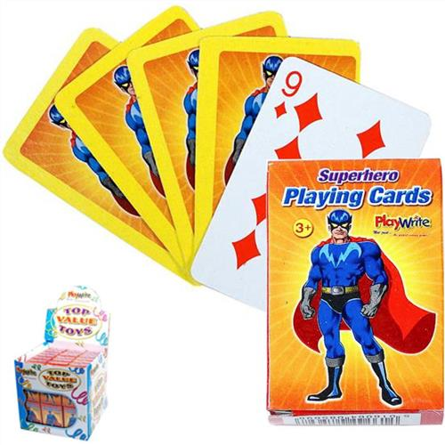 Super Hero Mini Playing Cards Partybag Ie