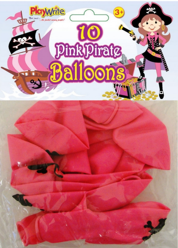 Pink Pirate Balloons Partybag Ie